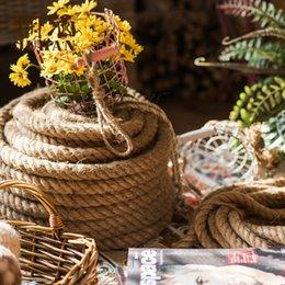 Corda di corda intrecciata naturale Corda di decorazione artigianale fai-da-te per il filo di giardinaggio fatto a mano Home Decor