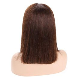 Virgin For Hair UK - 13x4 Bob Lace Front Wigs Pre Plucked With Baby Hair Human Hair Wigs For Black Women 150% Density #4 Brazilian Virgin Hair