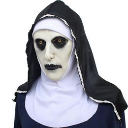 $enCountryForm.capitalKeyWord UK - Nun Mask Scared Female Face Wig Celebrations Halloween Theme Party Cosplay Bar Performances Night Performances Carnival Personal