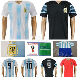 88bf4f02b World Cup 2018 Argentina Jersey Men Soccer 10 MARADONA 8 ZANETTI 9  BATISTUTA 9 ICARDI Football Shirt Kits 22 LAVEZZI Custom Home White Black
