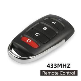 Wireless Door Key Australia - 10pcs 433MHz 12V 4CH Button Wireless Remote Control Switch Duplicating Copying RF Relay Transmitter Key Fob Module Door Opener