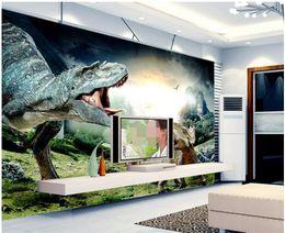 $enCountryForm.capitalKeyWord NZ - 3d wallpaper custom photo mural Primitive mountain meadow dinosaur howling Home decor Background wall 3d wall murals wallpaper for walls 3 d