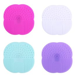 $enCountryForm.capitalKeyWord NZ - Foundation Makeup Brush Cleaner Pad Silicone Suction Cup Cosmetic Brushs Clean Mat Multi Color Hot Sale 2 5sh C R