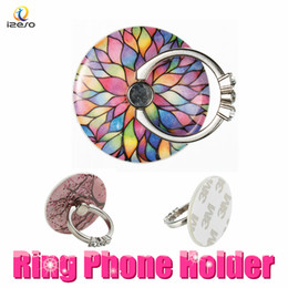 Discount lazy cell phone holder - Diamond Finger Ring Holder 360 Degree Rotation Bracket Lazy Stent Cell Phone Buckle with Bling Rhinestone for iPhone X S