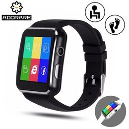 Smart Watch Phone For Iphone Australia - ADORARE X6 Smart Watch with Camera Touch Screen Support SIM TF Card Bluetooth Watches for iPhone Xiaomi Android Phone Smartwatch