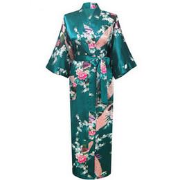 China 86 Brand New Wedding Bride Bridesmaid Robe Satin Rayon Bathrobe Nightgown For Women Kimono Sleepwear Flower Plus Size S-XXXL cheap lavender bathrobe suppliers