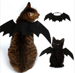 5PCS Funny Cats Cosplay Costume Halloween Pet Bat Wings Cat Bat Costume Fit Party Dogs Cats Playing Pet Accessories Top Quality on Sale