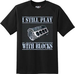 Chinese  Funny Play With Blocks Car Mechanic Engine Motor Gift T Shirt New Graphic Tee manufacturers