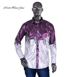$enCountryForm.capitalKeyWord Australia - 2019 New Men Fashion Shirts Tops Dress Shirts Cotton Polyster Formal Tops Print Africa Dashiki WYN454