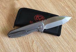 tactical knives 2019 - New Design Miguron Knives Preyer Custom Pocket Folding Knife S35VN Blade Sand Blasting Titanium Handle Tactical Survival