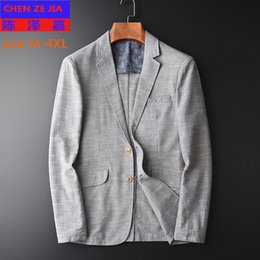 Discount variety suits - new arrival high quality Variety Fabrics Blended Suit Men Coat Young Fashion Handsome Casual Men Blazer plus size MLXL2X
