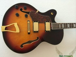 $enCountryForm.capitalKeyWord Canada - Honey Burst L-5 Left Handed Electric Guitar Gold Hardware High Quality From China