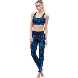 f68d5afc1 Novo Design de Alta Qualidade Azul Listrado 3D Leggings Impressão Digital  Mulheres Cintura Alta Legging Meninas Calças de Fitness Leggins