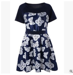 $enCountryForm.capitalKeyWord Canada - 2018, butterfly print dress, European and American foreign trade, single round neck, waist waist, big size, women's wear, a skirt, manufactu
