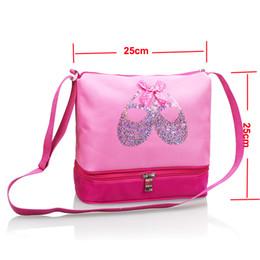 67e84b1595aa Dance Bags Ballet Canada - Embroidered Ballet Shoes Ballet Handbags Girls  Waterproof Canvas Dance Bag For