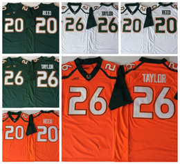 f707040ce 2018 New Miami Hurricanes 26 Sean Taylor 52 Ray Lewis 20 Ed Reed College  Football Jerseys Mens Sean Taylor University Football Shirts