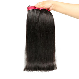 ItalIan haIr weave online shopping - Peruvian Kinky Straight Virgin Hair A Peruvian Coarse Yaki Peruvian Human Hair Weave Bundles Italian Yaki Straight