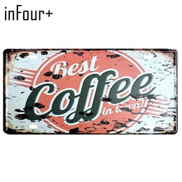 $enCountryForm.capitalKeyWord UK - [inFour+] Hot Best Coffee Plate Metal Plate Car Number Tin Sign Bar Pub Cafe Home Decor Metal Sign Garage Painting Plaques