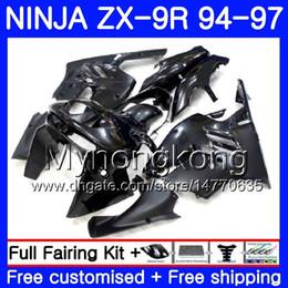 1994 Kawasaki Fairing Kits NZ - Body For KAWASAKI NINJA ZX900 ZX 9R 1994 1995 1996 1997 221HM.42 ZX 9 R 900 900CC ZX-9R 94 97 ALL Gloss black ZX9R 94 95 96 97 Fairing kit