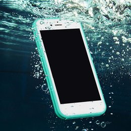 Dust Waterproof Iphone Case Australia - 2018 For Iphone X 8 Case S7 Waterproof Case TPU Rubber Full Boday Cover Shock-proof Dust-proof Underwater Diving Cases