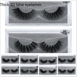 $enCountryForm.capitalKeyWord Australia - Wholesale NO Logo 3D Mink Eyelashes Natural Long Thick Handmade False Eyelashes set Makeup Fake Eye Lashes EyeLash Extension 1 pair
