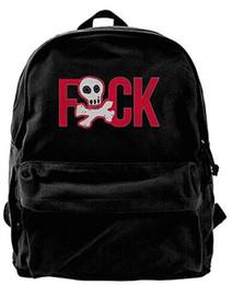 $enCountryForm.capitalKeyWord NZ - Skull Fuck Fashion Canvas Shoulder Backpack For Men & Women Teens College Travel rucksack duffle bags designer Backpack