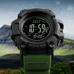 sports countdown clocks 2019 - Men's Sports Digital Wrist Watch Compass Altimeter Barometer Fashion Outdoor Pedometer Countdown Watches Clock Relogio M