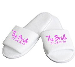 Chinese  personalised Wedding Bridesmaid Bride maid of honoer Slippers Hens Night Bachelorette Slippers party favors gifts manufacturers