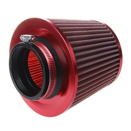 Wholesale Universal Car Air Filter Vehicle Induction Kit High Power Mesh Cone Red Finish