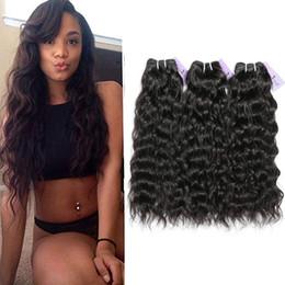 Hair Extensions India NZ - Indian natural wave Virgin Hair 3 Bundles 100% Unprocessed Human Hair extension Bundles Natural Black india