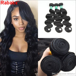 hair bundles NZ - 8A Raw Indian Body Wave Human Hair Bundles Rabake Indian Brazilian 100% Unprocessed Virgin Full Head Cuticle Aligned Human Hair Weave
