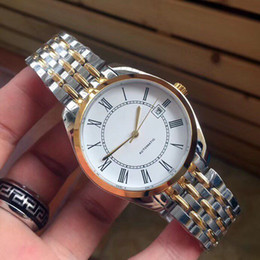 Fold machine online shopping - Hot Luxury men Watches Magnificent series mm rose gold Roman scale automatic machine steel