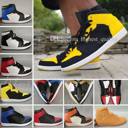 7707f5828a66 Cheap OG 1 Top 3 Man Basketball Shoes Wheat Gold Bred Toe Metallic Red City  Of Flight Chicago Banned Royal Blue Fragment UNC Sneakers Sports