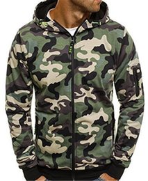Chinese  TREVOR LEIDEN Men's Hoodies Cardigan Hooded Coat Camouflage Male fashion Army Combat Tactical Sweat Shirt Men CLOTHES manufacturers