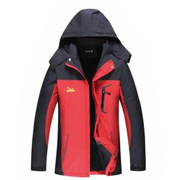 factory uniforms NZ - Outdoor three in one emergency garment factory couples two sets of removable windproof waterproof customized ski suit uniforms customized pr