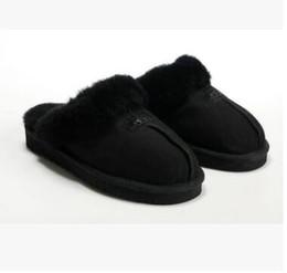 6d6c0faae6f1 Women Faux Fur Slippers UK - HOT SALE 2018 warm cotton Slippers men and  women Slippers