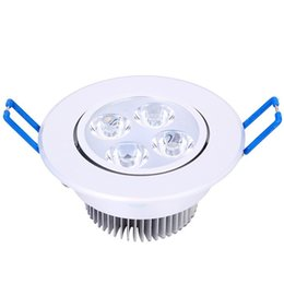 China CREE High Power White body led Downlights Dimmable 9W 12W led Recessed Ceiling Lights CRI>85 AC 110-240V With Power Supply supplier round body lights suppliers