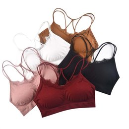 Sporting Womens Sexy Lace Bandeau Seamless Padded Tube Tops Casual Strapless Crop Top Bra S72 Tube Tops Women's Intimates