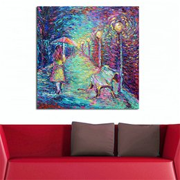 $enCountryForm.capitalKeyWord UK - Abstract Oil Painting Girl With Umbrella Canvas Art Paintings For Living Room Wall No Frame Decorative Pictures