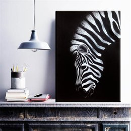 bedrooms paintings black white Australia - black and white canvas Wall Art Print Zebra Canvas animal Oil Painting On printing Home Decor Picture For Bedroom No Frame