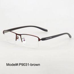 2f681e0c5a Rx eyeweaR online shopping - Magic Jing Brand new P9031 half rim men style  metal prescription
