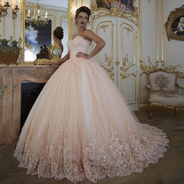 $enCountryForm.capitalKeyWord Canada - Vintage Wedding Dresses Bridal Gowns Turkey Lace Bling Beaded Tulle Sweetheart Corset Back Puffy Plus Size Ball Gown 2018