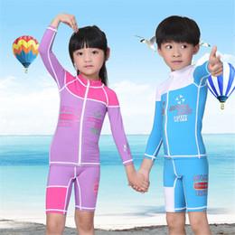 $enCountryForm.capitalKeyWord Australia - Children Long-sleeved Diving Suit Elastic Warm Swimsuit Kid's Outdoor Beach Surfing UV-proof Boys Girl Sunscreen WetSuit Children's Swimwear