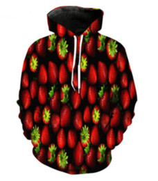 $enCountryForm.capitalKeyWord UK - Wholesale--Unisex Spring Autumn Strawberry 3D print Hoodies Sweatshirt Cosplay For Woman Man Clothing Tops HH093