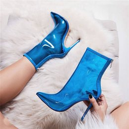 $enCountryForm.capitalKeyWord Canada - T-show Botines Transparent PVC High Heels New Designer Rain Boots Hot Selling Pointed Toe Shoes Women Back Zip Bota Feminina