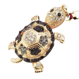 $enCountryForm.capitalKeyWord UK - 4 Colors Little Turtle Keychain Animal Key Chain Women Jewelry Accessories Bag Pendant Key Ring