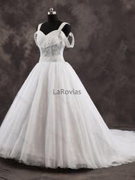 $enCountryForm.capitalKeyWord NZ - Wholesale Princess Wedding Dress Sheer Top White And Ivory High Quality Bridal Gown Bride Wear Dress For Bride
