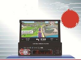 Nouveau produit 7 pouces entièrement automatique véhicule flexible MP5MP4MP3 sept lumières colorées GPS navigation machine intégrée RK-7158G