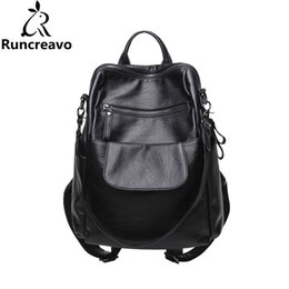 Sac Laptop UK - 2018 Rucksack Women Backpack Sac A Dos Femme Travel Laptop Backpack Pu Leather Back Bag School Bags For Teenage Girls