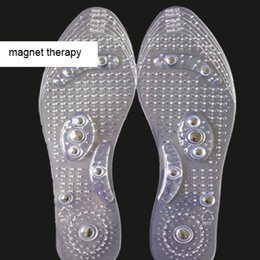 Discount magnetic therapy magnets - New Magnetic Therapy Massage Insoles Magnet Health Shoe Insole Pads for Men Women Drop Ship 240772